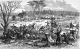 Recapture of artillery at Shiloh Church illustration