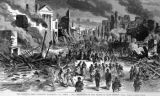 Union army entering Richmond, Virginia illustration