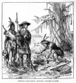 'French Explorers Burying Leaden Plates' illustration