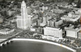 Aerial view of downtown Columbus photograph