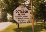 Sign for Darrow Octagon House