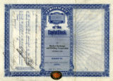 Stock certificate photograph