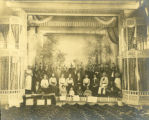 E. E. Eisenbarth showboat crew on stage