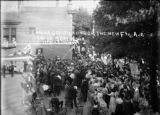 Cornerstone laying for Masonic temple photograph
