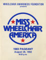 1983 Miss Wheelchair America Pageant program