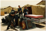 U.S. soldiers in camp during Gulf War