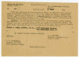 U.S. Army Air Forces military orders awarding Oak Leaf Cluster to C. Walder Parke, August 10, 1944