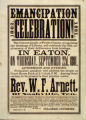 Emancipation Proclamation Anniversary Celebration Broadside