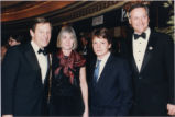 George Voinovich, Janet Voinovich, Michael J. Fox and Richard Celeste at Light of Day Premiere...