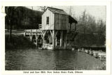 Grist and Saw Mill, New Salem State Park, Illinois Postcard