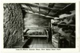 Abraham Lincoln's lean-to, New Salem State Park postcard