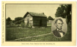 Lincoln Cabin, Pioneer Memorial State Park, Harrodsburg, Kentucky Postcard
