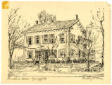 Abraham Lincoln House in Springfield, Illinois sketch