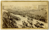 Abraham Lincoln's funeral procession in Columbus, Ohio; photographic print.