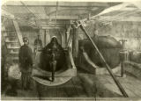 "Civil War Ironclad Monitor ""USS Montauk"" interior sketch"