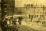 Execution of four of the conspirators convicted in the assassination of Abraham Lincoln, July 7,...