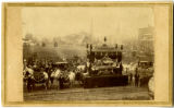 Abraham Lincoln's funeral hearse in Columbus, Ohio; photographic print.