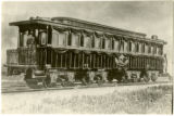 Abraham Lincoln's funeral railroad car, lithograph, side 1