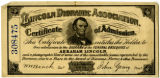 Abraham Lincoln diorama certificate of admission