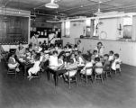 Children at Works Progress Administration Feeding Program