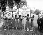 Girl Scouts with Johnny Appleseed Historical Marker