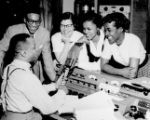 "James Edward ""Eddie"" Saunders on Air at WVKO Radio"