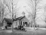 Children Playing Outside Two Room Schoolhouse