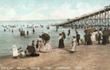 Bathing Beach at Cedar Point