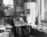 Zane Grey Writing in his Morris Chair