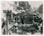 Street markets in 1917 photograph