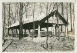 Shelter house at Mohican State Park photograph