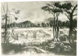 Old Fort Hamilton drawing