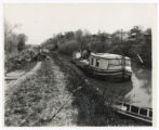 Canal boat on Miami and Erie Canal photograph