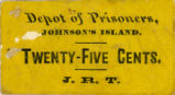 Johnson's Island Prison Sutler's Tickets