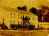 Johnson's Island Soldiers' Barracks Photograph