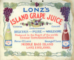 Lonz Winery Grape Juice Labels