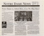 Notre Dame College Admits Men Article