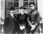 "Orville Wright, Eddie Rickenbacker and R.W. ""Shorty"" Schroeder Photograph"