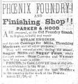 Phoenix Foundry Newspaper Notices