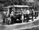 Public Library of Cincinnati & Hamilton County First Bookmobile Photograph