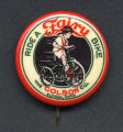 Ride a Fairy Bike Pin