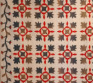Red and Green Floral Applique Quilt and Double Saw Tooth Quilt