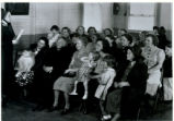 Salvation Army Lecture with Gladys Ames Stickles and Her Children Photograph