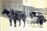 Rural Free Delivery Mail Sleigh Photograph