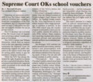 Supreme Court Finds School Vouchers Constitutional Article