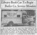 Butler County Bookmobile Newspaper Articles
