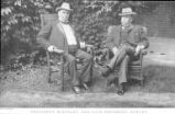 William McKinley and Garret Hobart on Lawn Photograph