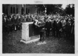 Calvin Coolidge Rededicates Otterbein College Soldiers' Monument Photograph