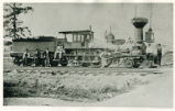 Columbus, Piqua & Indiana Railroad Locomotive Photograph