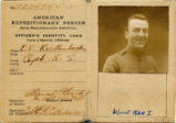 Eddie Rickenbacker Army Expeditionary Force Identity Card